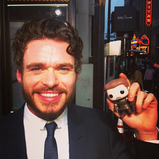 Richard Madden with Robb Stark