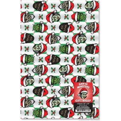 Santa Monsters Gift Wrap