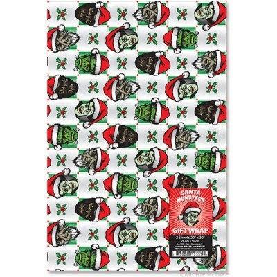 Santa Monsters Gift Wrap