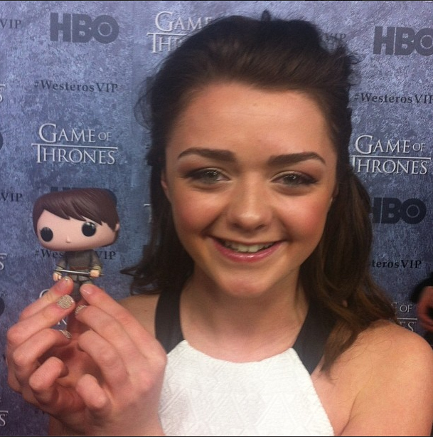 Maisie Williams with Arya Stark