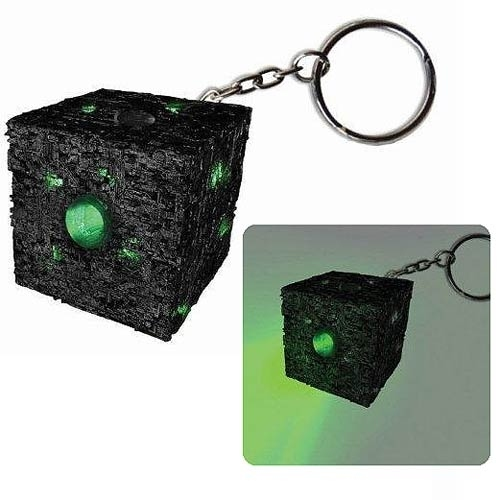 Borg Cube Keychain