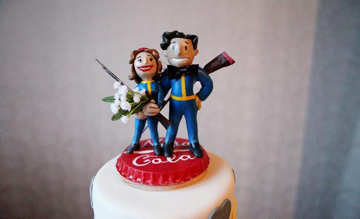 Fallout Wedding Cake