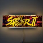Original Street Fighter II Arcade Marquee Wall Light