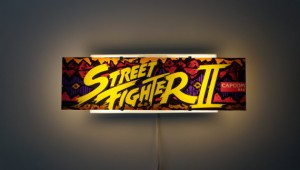 Original Street Fighter II Arcade Marquee Wall Light