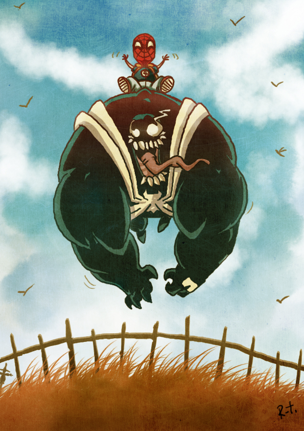 Peter riding Venom