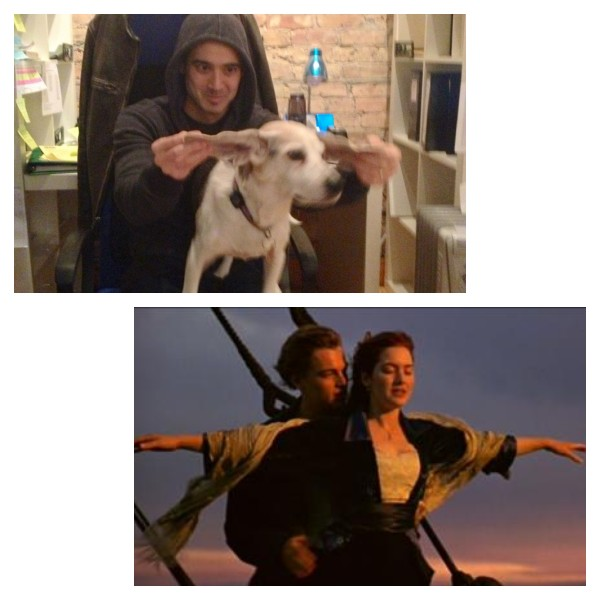 Titanic dog scene