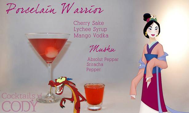 Disney Cocktails Mulan