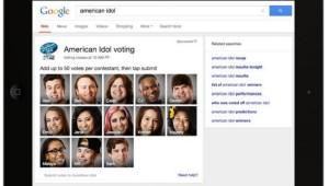 Google American Idol Voting Within Search