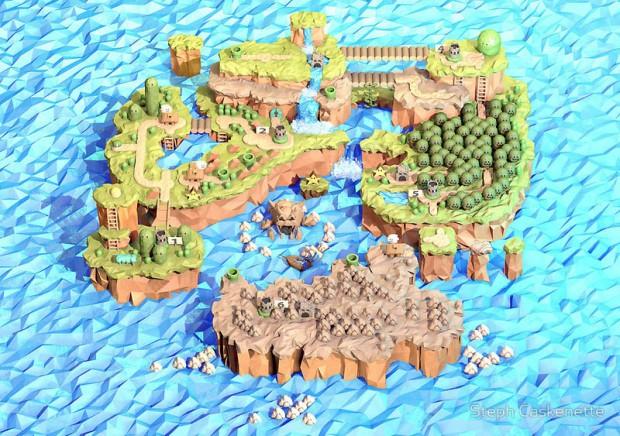 Super Mario World Papercraft
