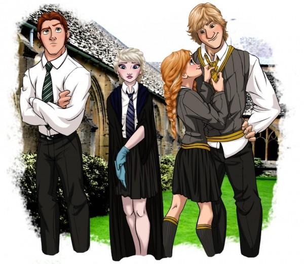 Hans, Elsa, Anna, and Kristoff
