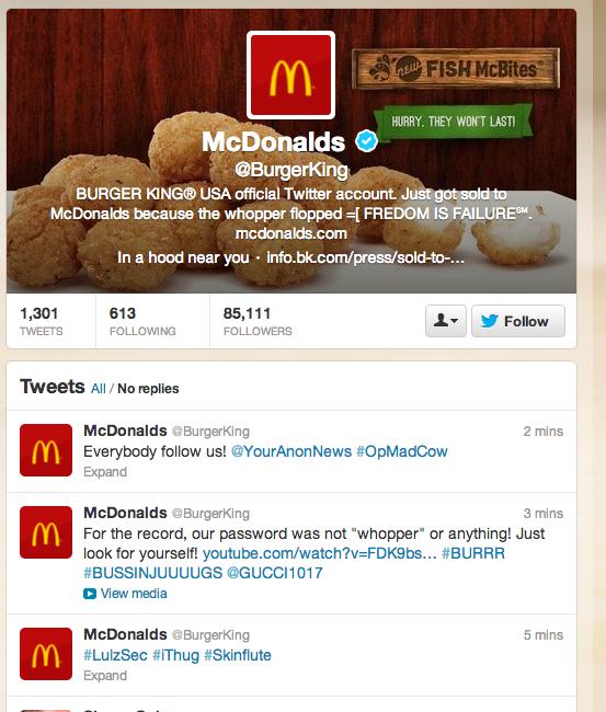 Mc Donalds Burger King Hack