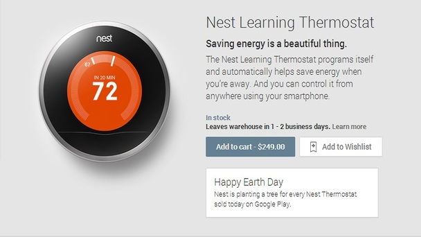 On Earth Day, Nest Thermostats Are on Sale on Google Play - Walyou