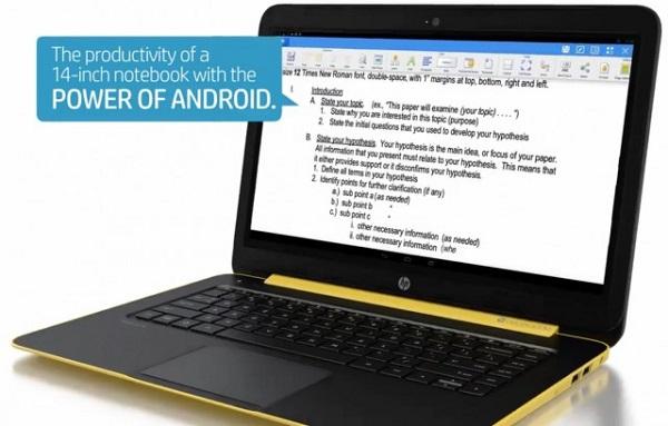 HP Android Laptop
