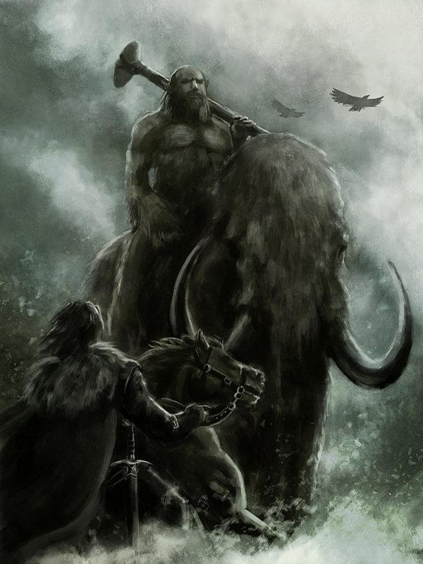 Jon Snow meets Giants