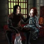 Sandor in a creepy moment with Sansa