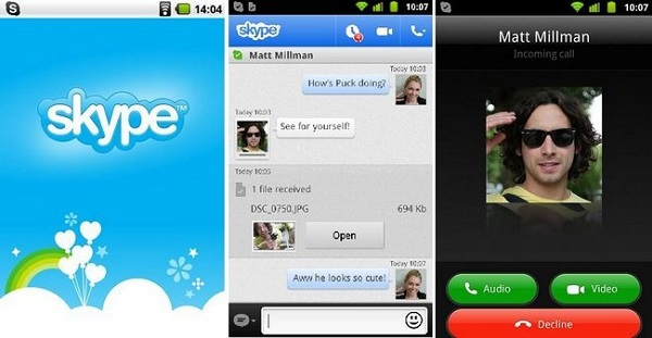 Skype Android screenshot