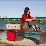Soofa Solar-Powered Smart Park Bench 01
