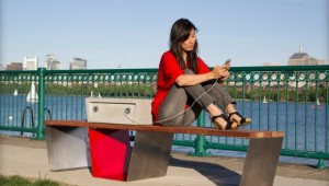 Soofa Solar-Powered Smart Park Bench 01