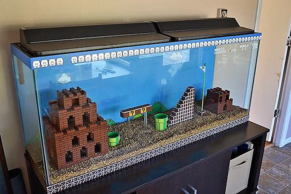 Super Mario Bros. Aquarium by Kelsey Kronmiller image 1