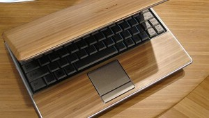 Wood laptop