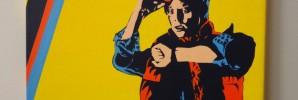 Marty McFly Acrylic Painting
