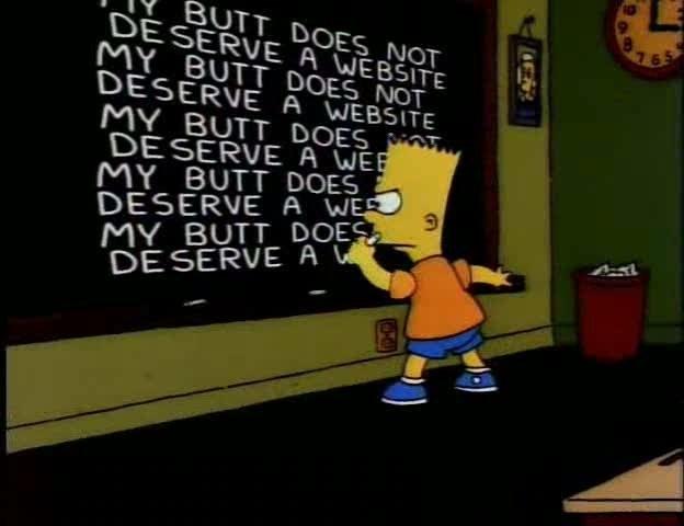 Bart's Butt