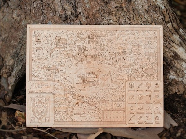 Legend of Zelda Map Woodlands by Neutral Ground and Alex Griendling image 1