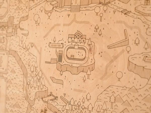 Legend of Zelda Map Woodlands by Neutral Ground and Alex Griendling image 3