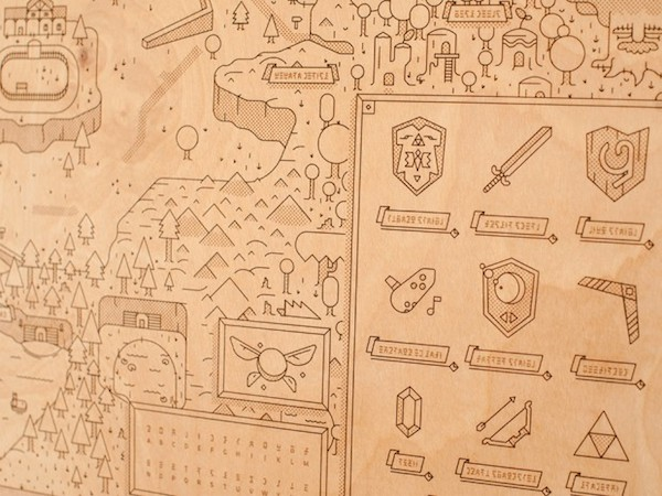 Legend of Zelda Map Woodlands by Neutral Ground and Alex Griendling image 4