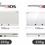 New Nintendo 3DS length width comparison image