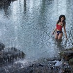 Wonder Woman in the lake
