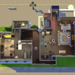 Friends apartments on Sims