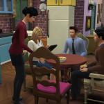 Friends having dinner on Sims