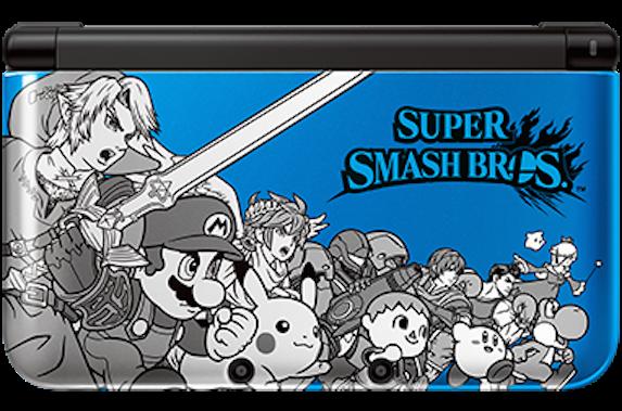 Nintendo 3DS XL Super Smash Bros. blue image