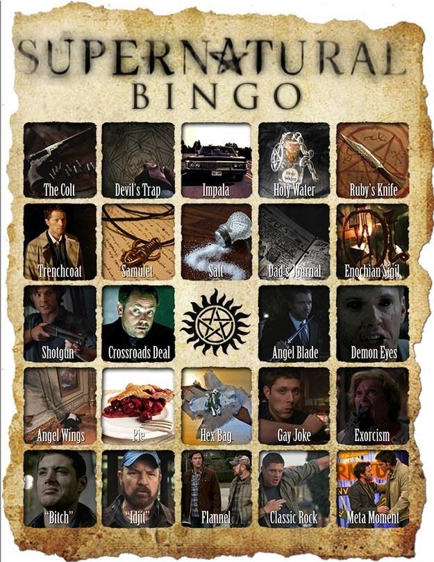 Supernatural Bingo
