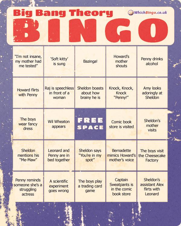 The Big Bang Bingo