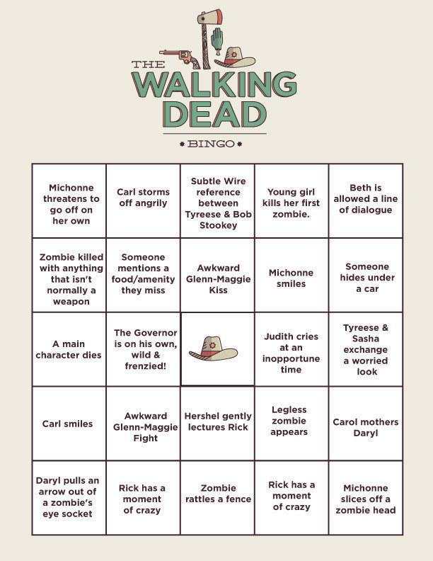 The Walking Dead Bingo