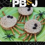Spider PB&J sandwiches