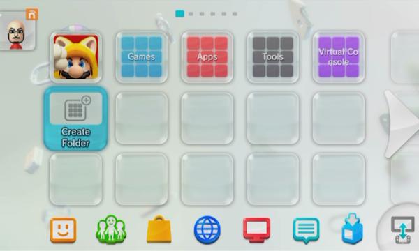 Nintendo Wii U Folders 5.2.0 firmware image