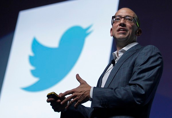 Twitter's CEO Dick Costolo gestures during a conference at the Cannes Lions