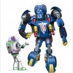 Buzz meeting new friends