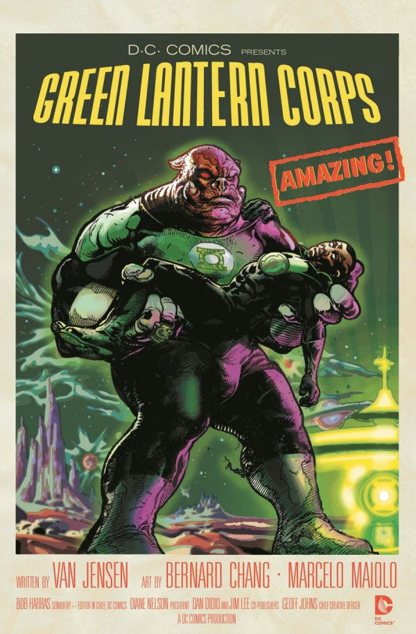 Green Lantern Corps cover