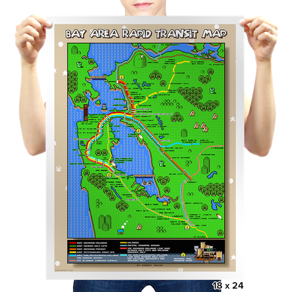 Robert Bacon Super Mario World BART map image 1