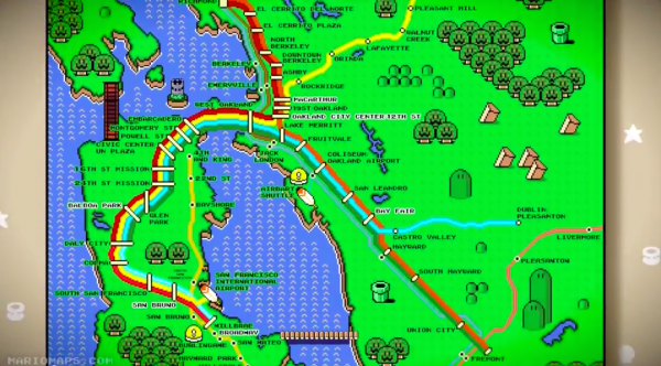 Super mario world bart map poster by robert bacon walyou robert bacon super mario world bart map image 2 gumiabroncs Image collections