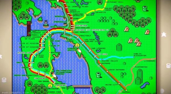 Super Mario World BART Map Poster By Robert Bacon - Walyou