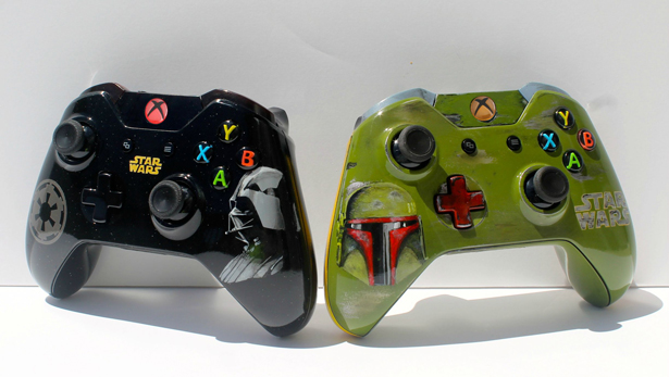 Xbox one controllers modded with star wars themes walyou xbox 360 star wars mod 1 solutioingenieria Image collections