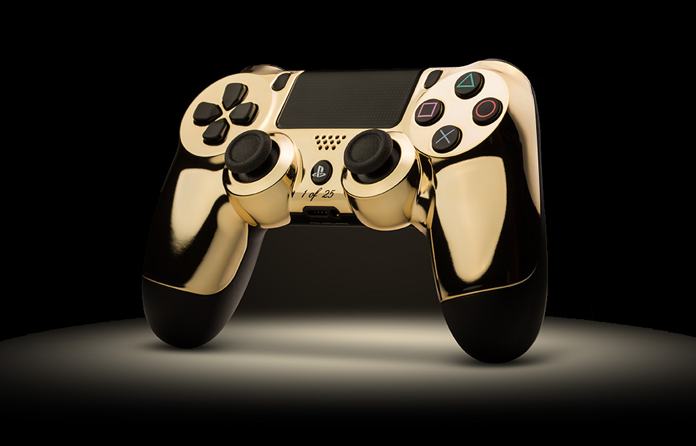 Gold PS4 controller 1