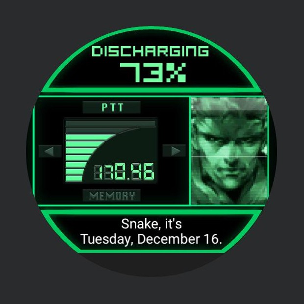 Metal Gear Solid smartwatch 2