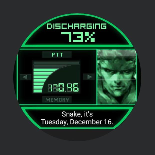 Metal Gear Solid smartwatch 2