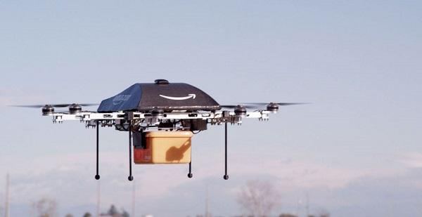 Amazon Prime Air drone in flight